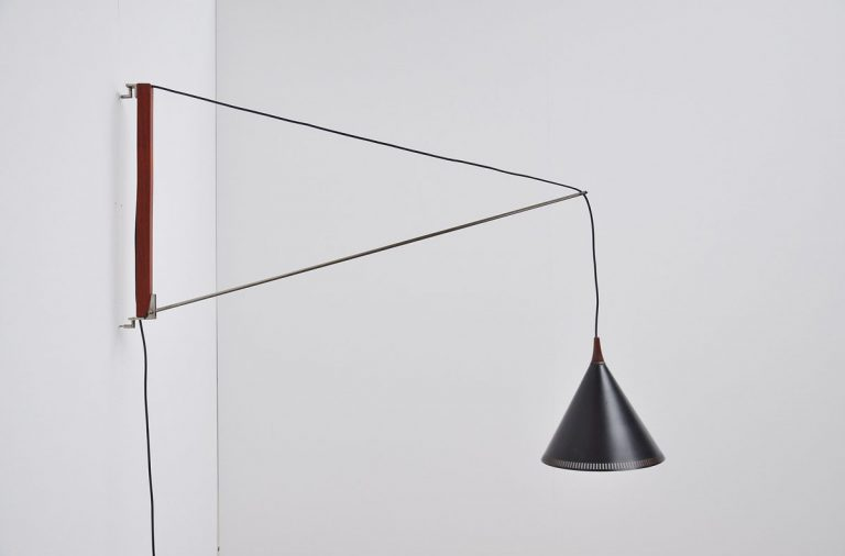 Willem Hagoort arc wall lamp 1950