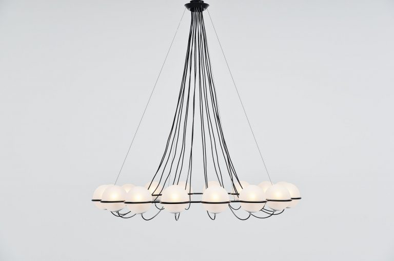 Gino Sarfatti attributed chandelier Arteluce Italy 1960