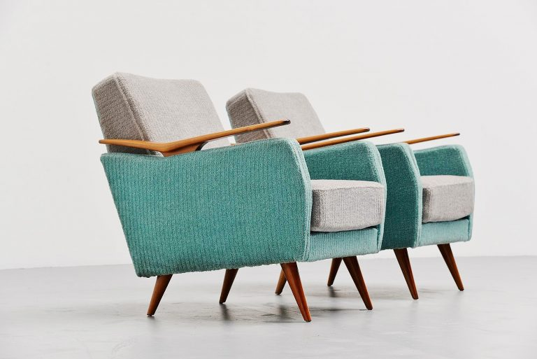 Gio Ponti style club chairs Italy 1950