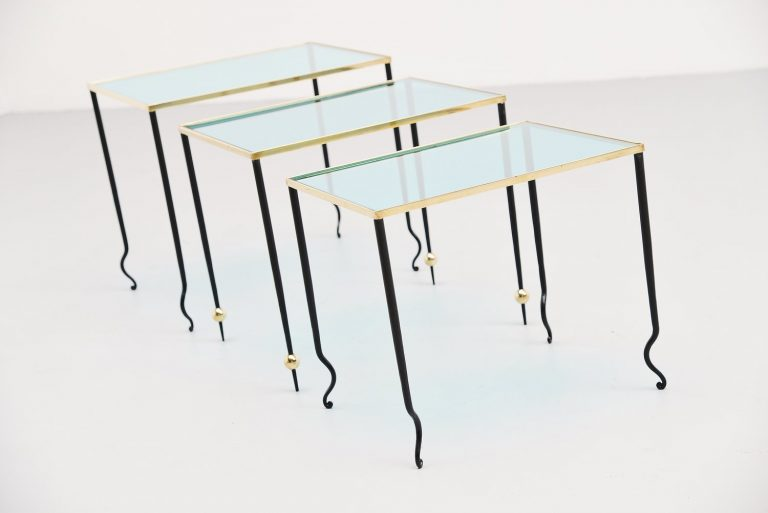 Rene Drouet nesting tables France 1940