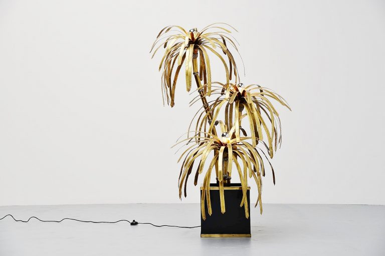 Maison Jansen palm tree floor lamp France 1970