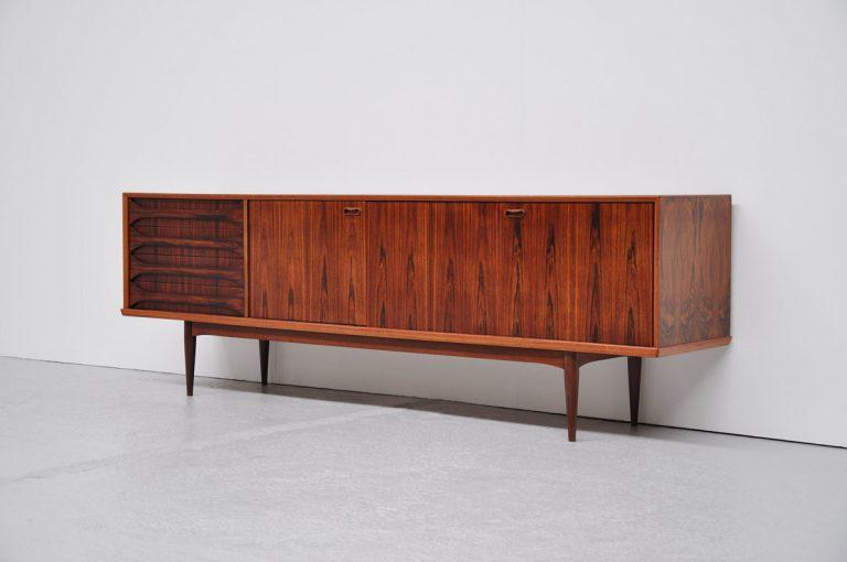Rosewood V-Form sideboard Oswald Vermaercke 1959