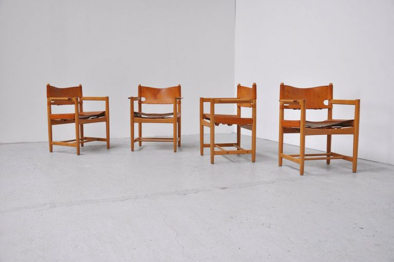 Borge Mogensen Fredericia chairs set 1965