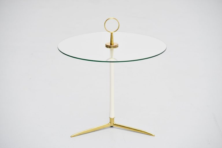 Cesare Lacca tripod side table Italy 1950