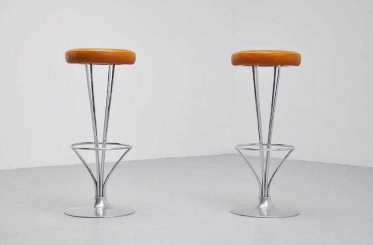 Piet Hein bar stools Fritz Hansen 1979