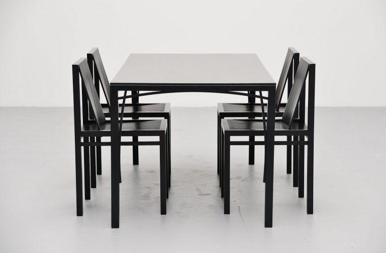 Ruud Jan Kokke dining set for Metaform Holland 1984