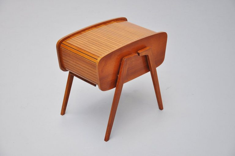 Dutch roll top sewing box 1950