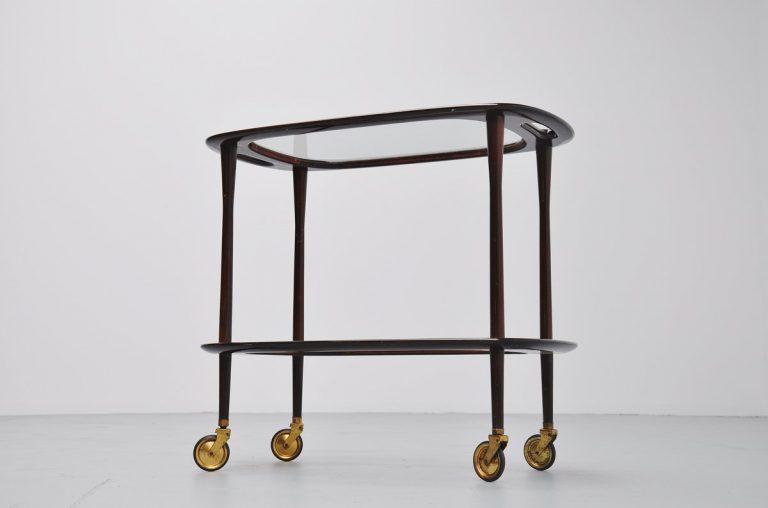 Cesare Lacca Bi-Level bar cart Italy 1950