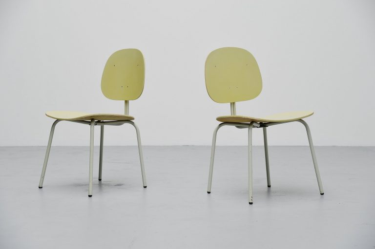 Industrial pair of side chairs Holland 1960