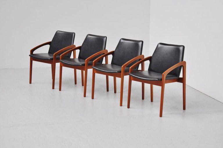Kai Kristiansen teak dining chairs Korup 1960