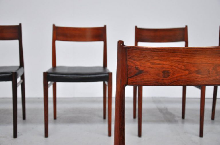 Arne Vodder rosewood dining chairs 1960