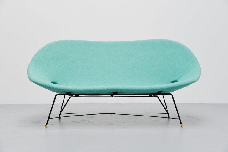 Augusto Bozzi cosmos lounge sofa Saporiti Italy 1954