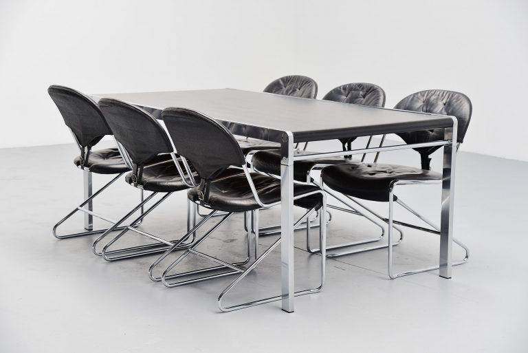 Claire Bataille Paul Ibens dining table 't Spectrum 1971