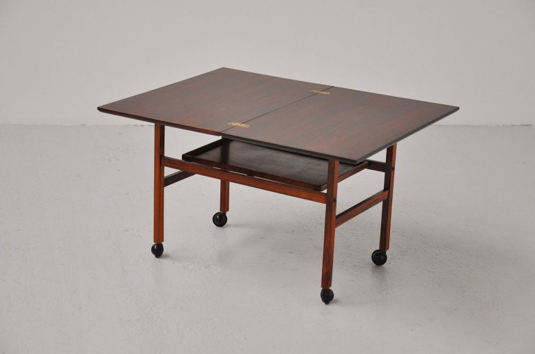 Arrebo Danish tea cart with folding top 1960