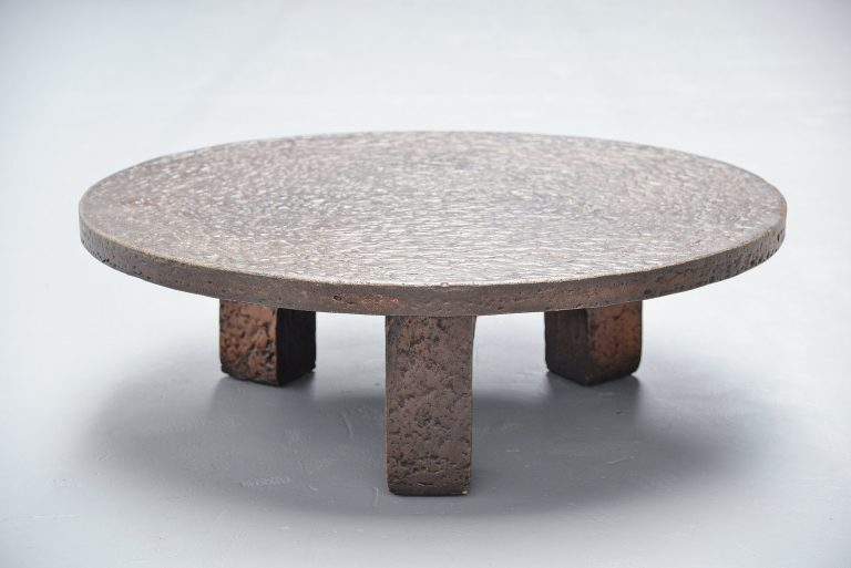 Ado Chale style brutalist coffee table France 1970