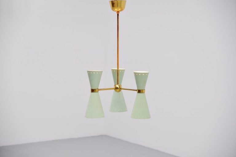 Pierre Guariche attributed ceiling lamp for Disderot France 1950