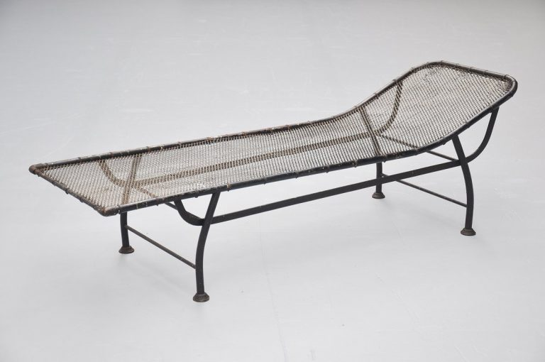 Industrial daybed in the manner of Jean Prouve 1930