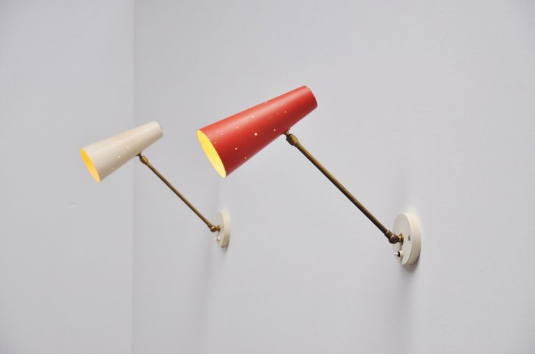 French adjustable wall lamp Jacques Biny? 1950