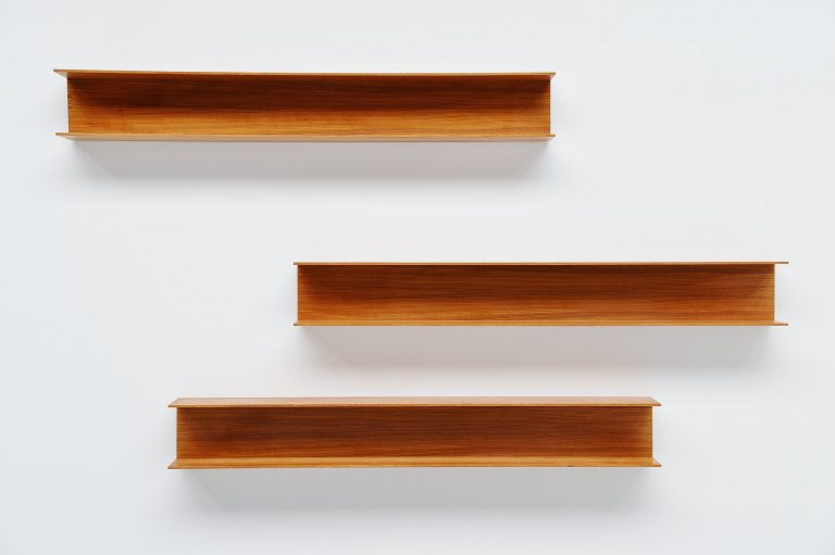 Walter Wirz wall shelves Wilhelm Renz teak wood Germany 1965
