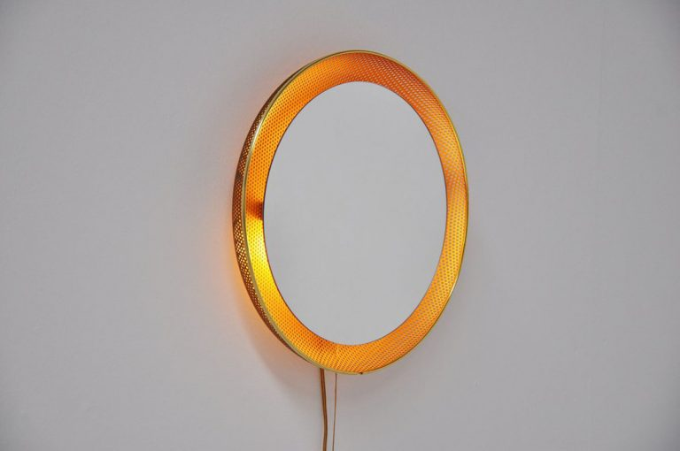 Artimeta luminated mirror Fiedeldij 1960