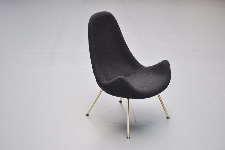 Fritz Neth organic lounge chair Germany 1950