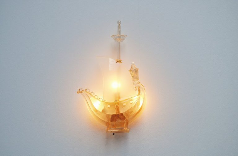 Barovier & Toso ship wall lamp Italy 1950