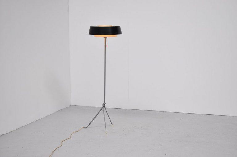 Hiemstra Evolux tripod floor lamp 1955