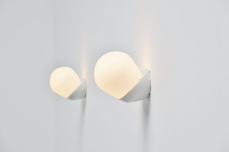 Wilhelm Wagenfeld Lindner sconces model 6010 Germany 1955