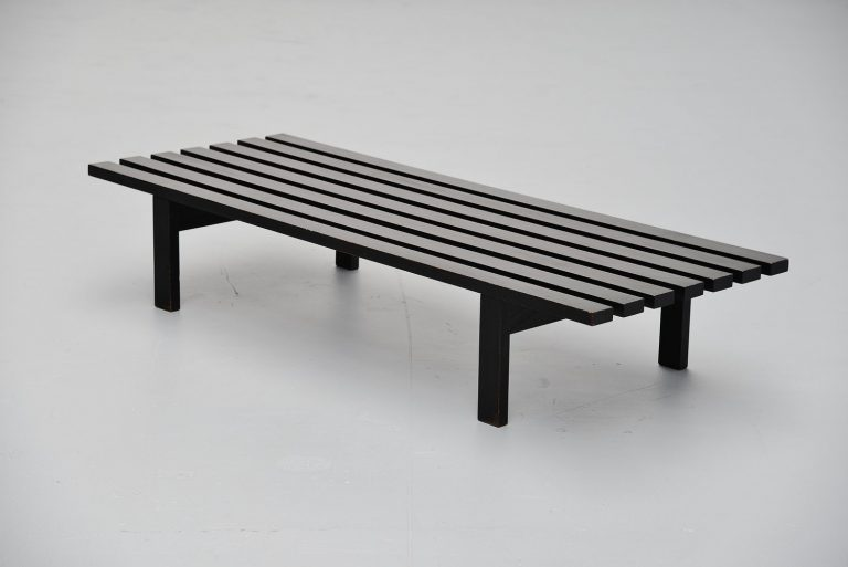Martin Visser slat bench black ebonized 't Spectrum 1965