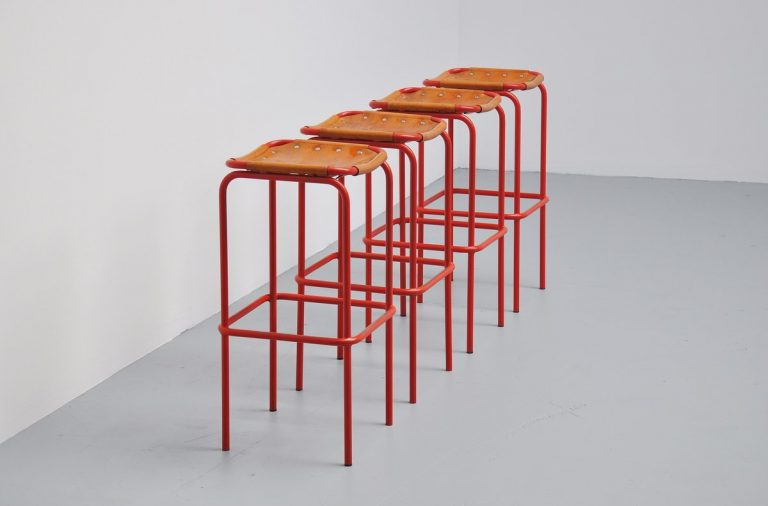 Bar stools in the manner of Charlotte Perriand France 1960