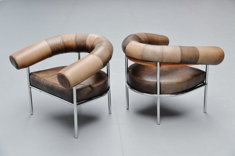 De Sede ox shaped lounge chairs Switzerland 1970