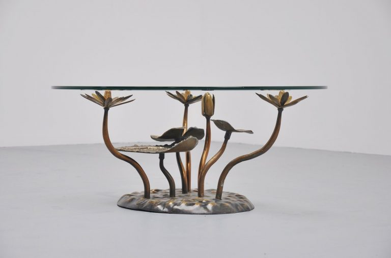 Willy Daro attributed coffee table in bronze Belgium 1970