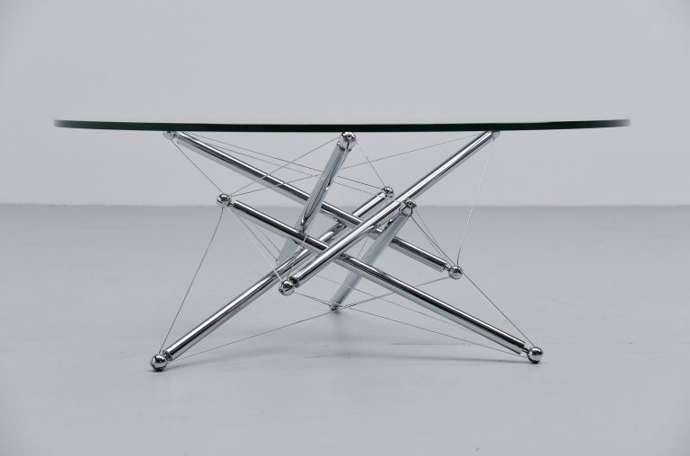 Theodore Waddell 713 coffee table Cassina Italy 1973