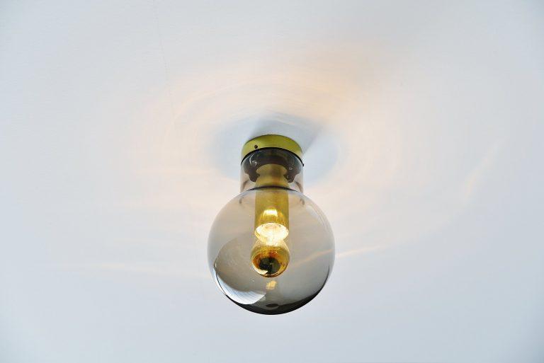 Raak Maxi globe flush mount lamps Holland 1965