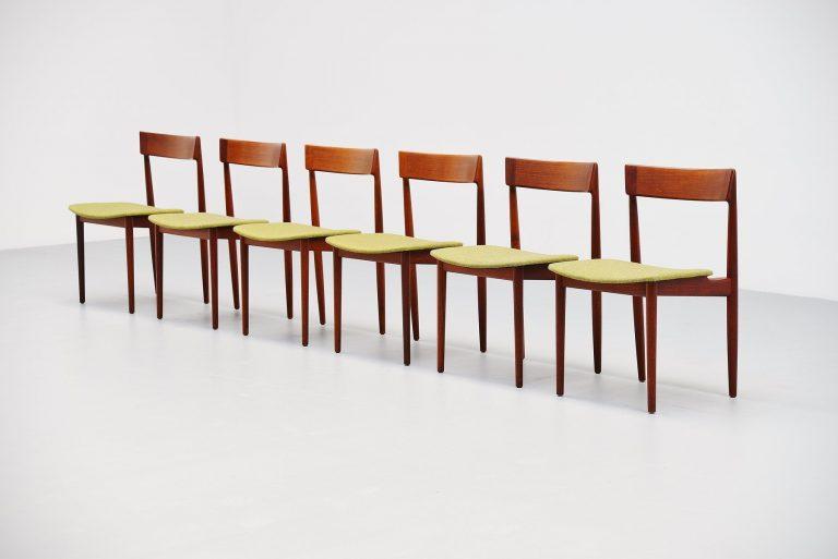 Henry Rosengren Hansen dining chairs Denmark 1960