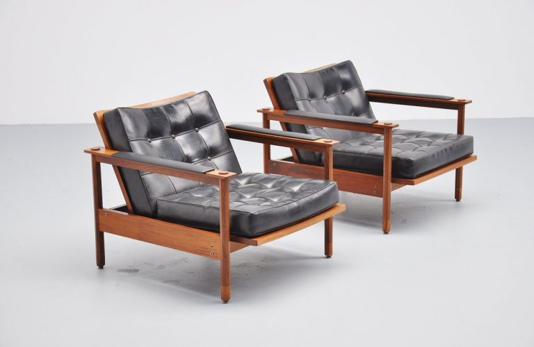 Stildomus lounge chairs pair, Italy 1960