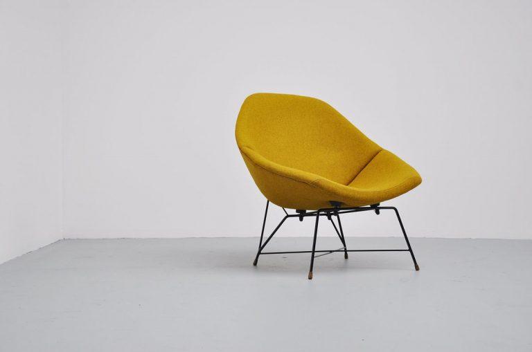 Saporiti Augusto Bozzi lounge chair Italy 1956