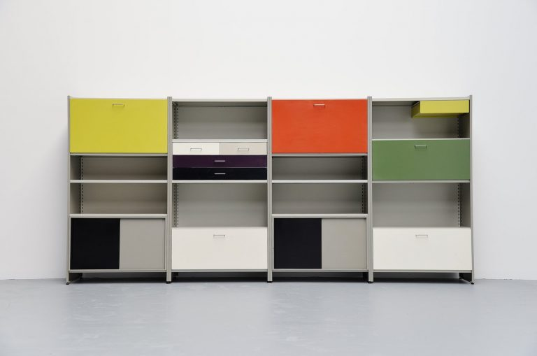 Andre Cordemeijer Gispen 5600 large storage unit Holland 1962