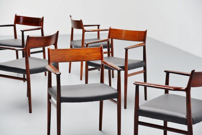 Arne Vodder armchairs in Rosewood Sibast Mobler 1965