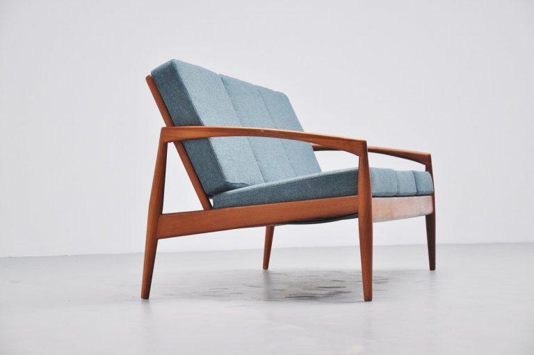 Kai Kristiansen teak sofa for Magnus Olesen 1960