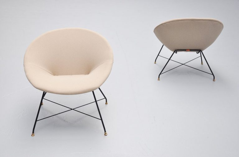 Augusto Bozzi lounge chairs for Saporiti 1955