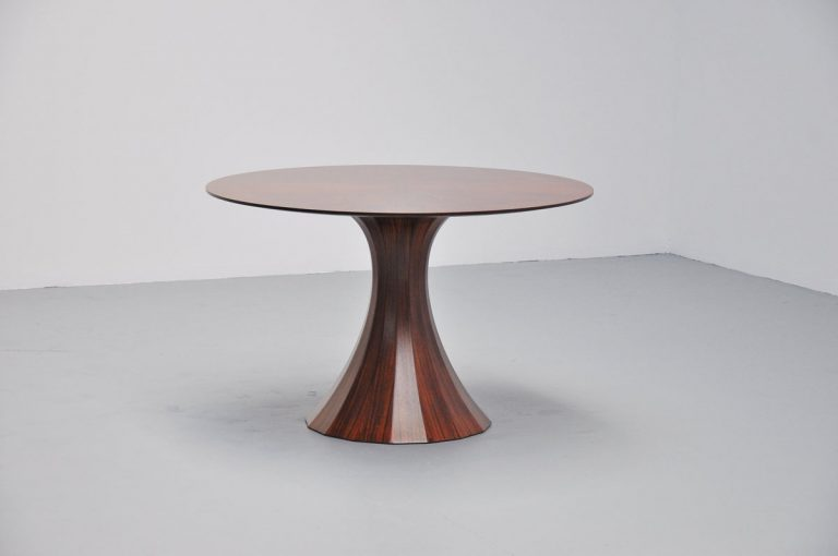 Luigi Massoni round dining table Italy 1950