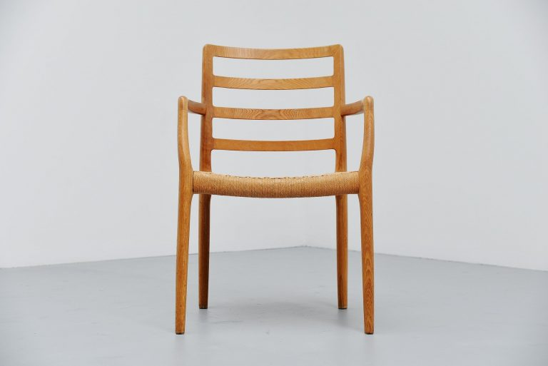 Niels Moller oak armchair model 85 Denmark 1981