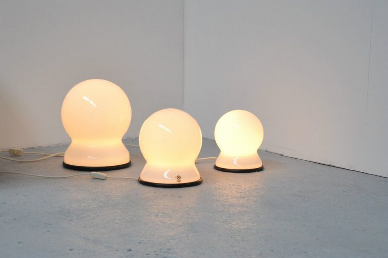 Sergio Asti scafandro lamps by candle 1973
