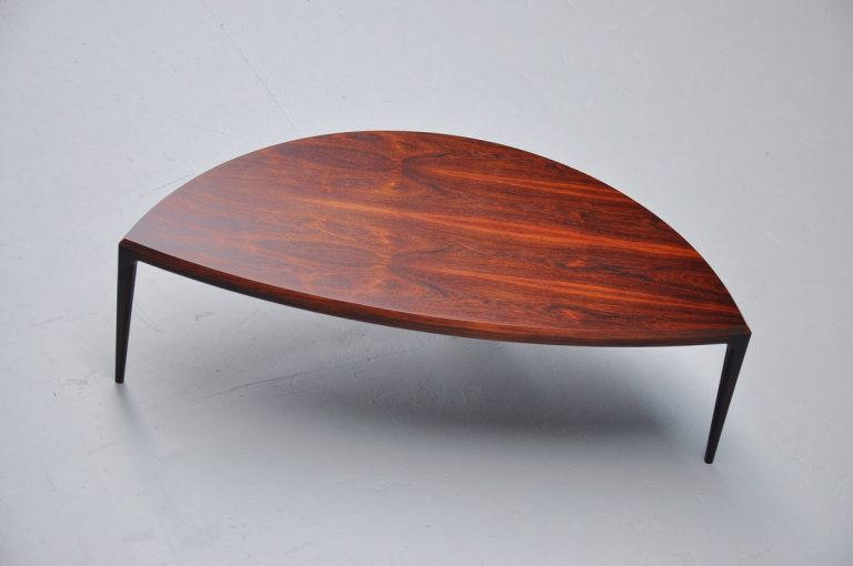 Johannes Andersen rosewood coffee table CFC Silkeborg 1960