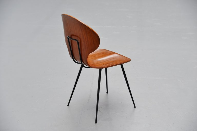 Carlo Ratti plywood side chair Legni Curva Italy 1950