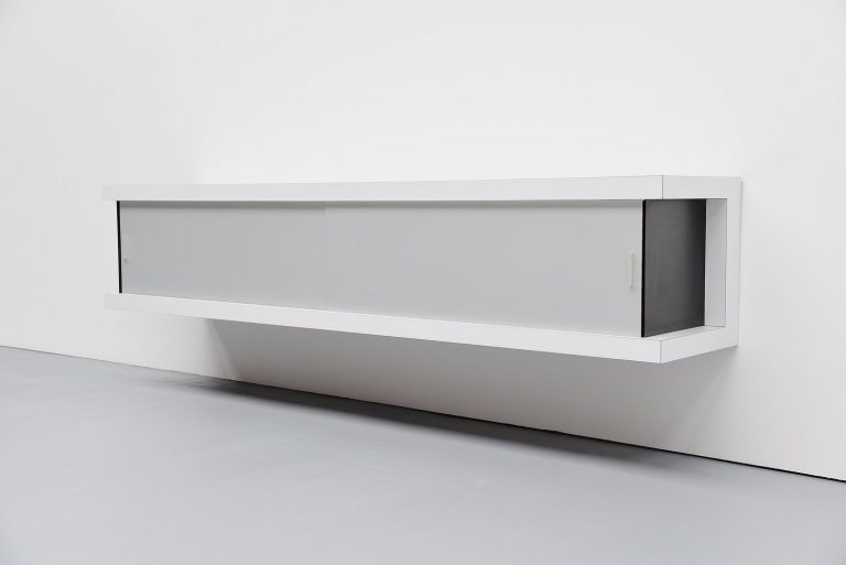 Horst Brüning floating sideboard white Behr Germany 1967
