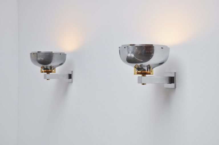 Pair of art deco sconces in the manner of Jean Perzel 1940