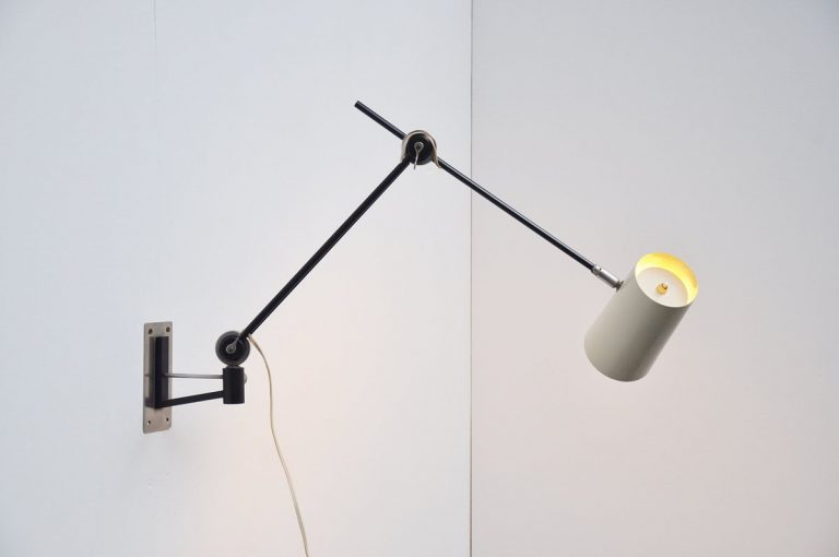 Dutch industrial wall lamp by Artimeta 1955