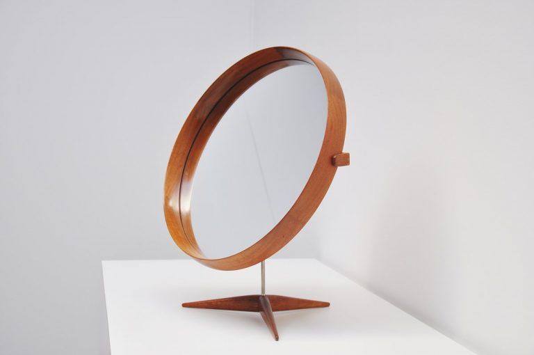 Uno and Osten Kristiansson Luxus table mirror Sweden 1960